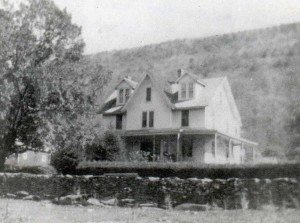 Original Sanford cottage in black and white photo