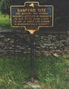 Sandford Family official NY Historical Sign