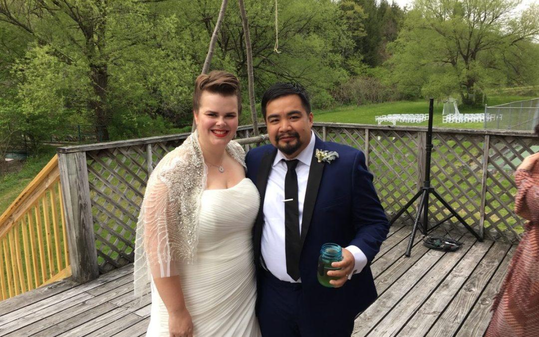 Irvin and Joanna's wedding at the Homestead Farm barn!