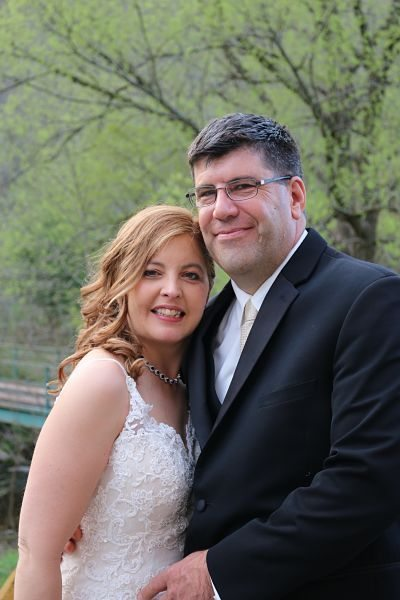Chris and Jenn celebrated their wedding in our barn at the Homestead Farm Resort!